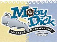 moby dick seafood restaurant logo
